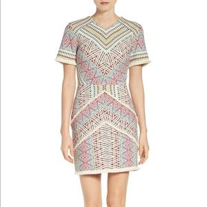Adelyn Rea Geometric Jacquard Embroidered Dress